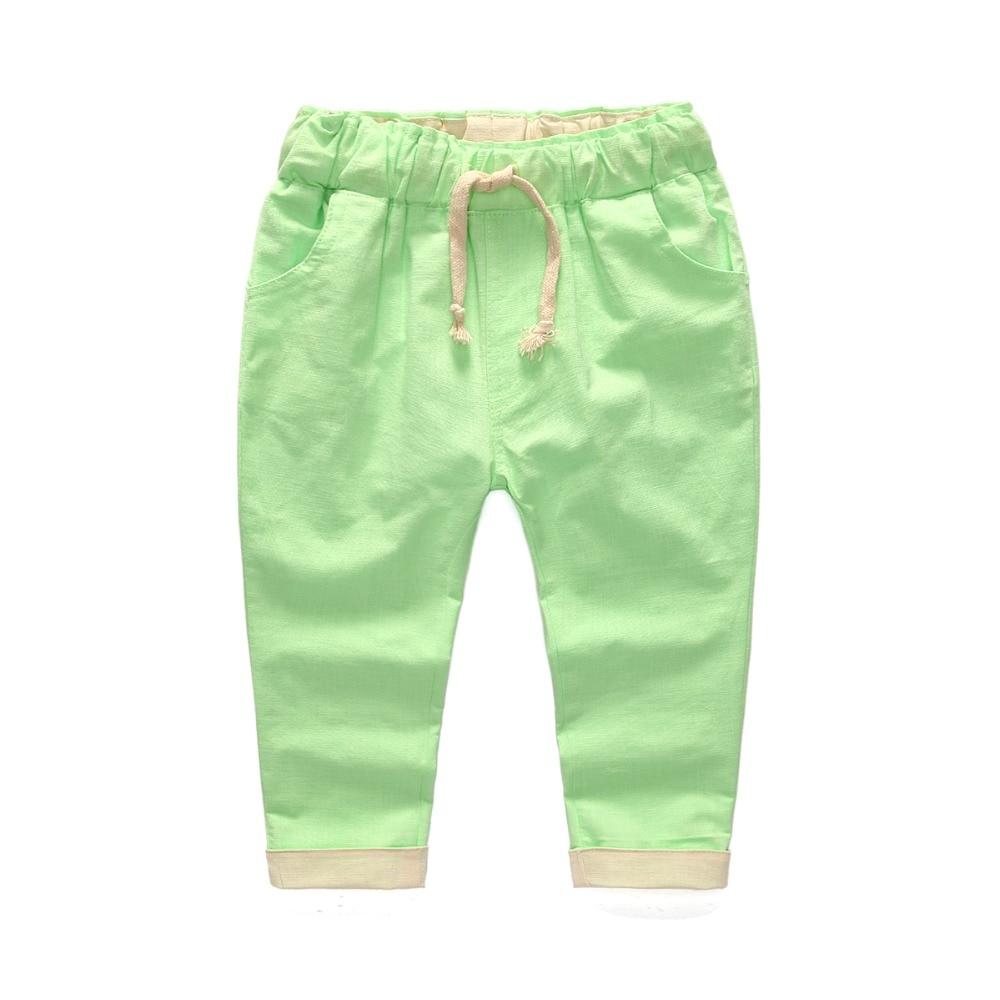 boys drawstring linen pants - Pi Pants