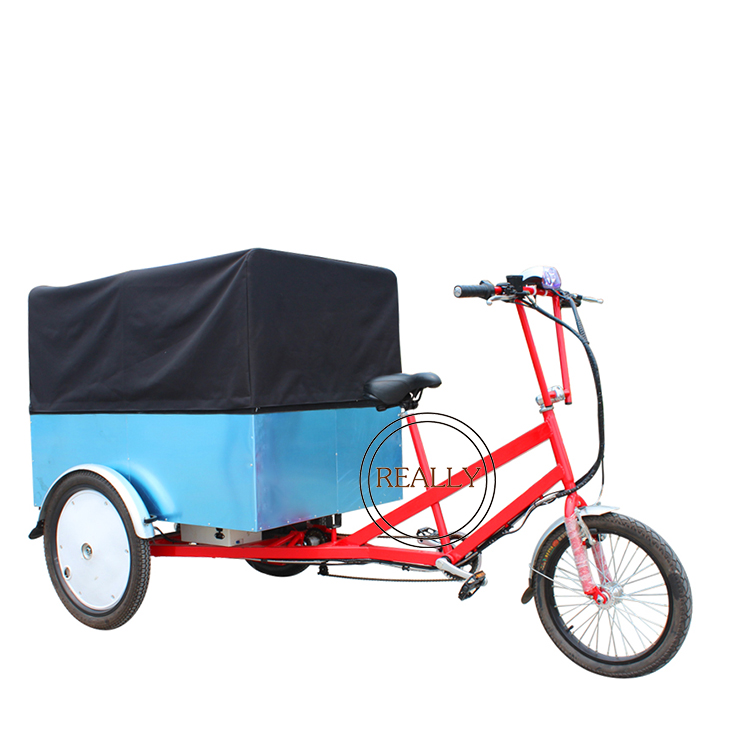 multi function food bike customized cargo tricycle mobile courier trike cart