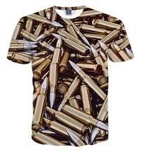 2016 neue Harajuku 3D T Shirt Männer Frauen Fashion Tees Kugel/Kamera/Zigarette/Flasche Gedruckt T-Shirt Crewneck Tops Camiseta Hombre
