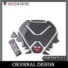 KODASKIN Motorcycle Real Carbon Tank Pad Sticker Decal Emblem for TRIUMPH AMERICA BONNEVILLE T120 BOBBER 1200 bonneville T100