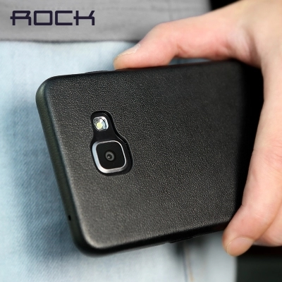 super popular b17ee e0c33 US $8.99 |Original ROCK Touch Series PU Leather Back Case cover for SAMSUNG  GALAXY A5 2016 A510 Shockproof Mobile Phone Protective Cover on ...