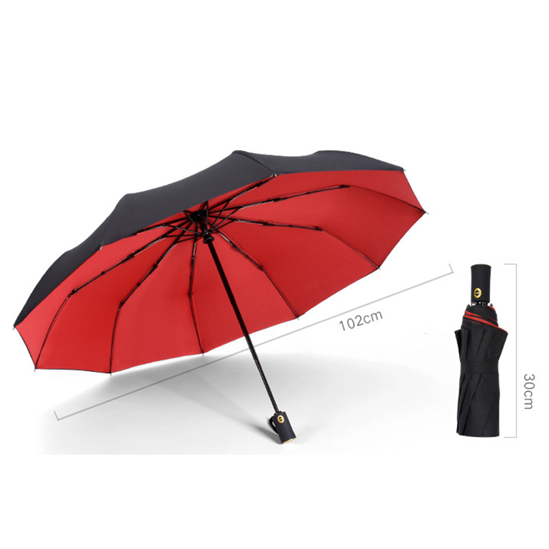 YADA 10 Bone Large Solid Color Double Layer Rain Automatic Umbrella For Women High Quality Windproof Folding UV Umbrellas YS320 in Umbrellas from Home Garden