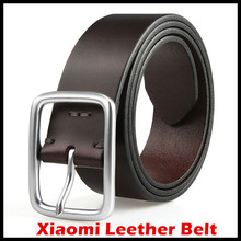 2017 Xiaomi Mijia Qimian Leisure Cow Leather Belt Five Hole Two Color 38mm Width for Man Alluminum Buckle