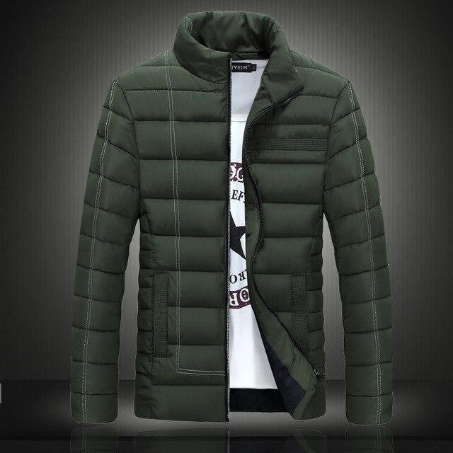 watch 67776 d2e72 US $44.2 15% di SCONTO|Giubbotti invernali da uomo e cappotti moda uomo  coltiva la sua moralità plus size pure color ultra leggero imbottiture  uomini ...