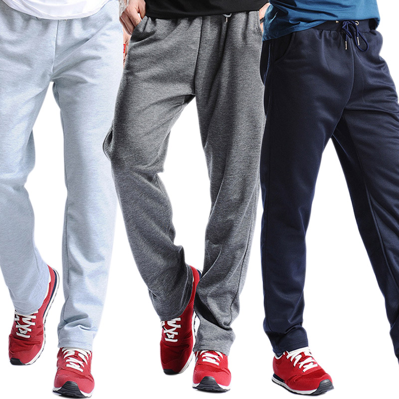 New Men Joggers Sweatpants Workout Full Length Casual Pants Solid Drawstring Trousers Plus Size  -MX8