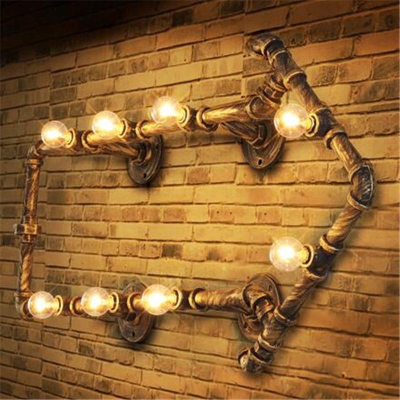 Vintage Warehouse Wall Lighting: ᗖIndustrial Wall Pipe Lamps ᗗ Vintage Vintage Retro Loft