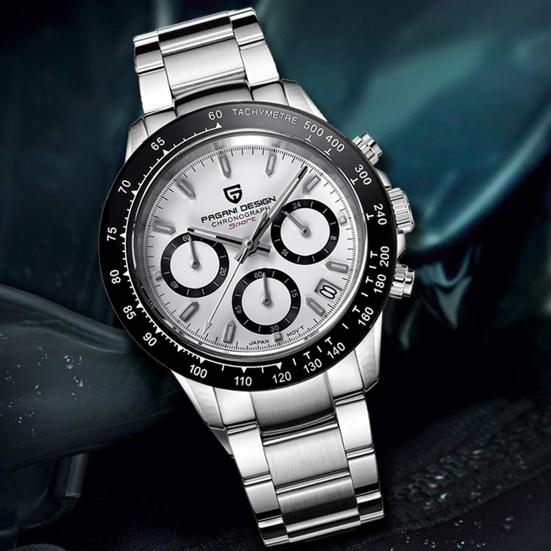 2019 pagani design hot watch 남성 다기능 시계 스테인레스 스틸 스트랩 비즈니스 럭셔리 쿼츠 손목 시계 relogio masculino-에서수정 시계부터 시계 의  그룹 1