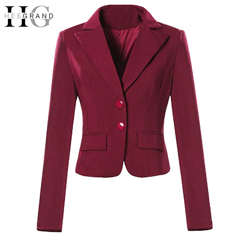 HEE GRAND Fashion Plus Size Womens Blazers Slim Work Wear Blazer Feminino Black White Women Outwear Formal Jacket S-4XL WWX430