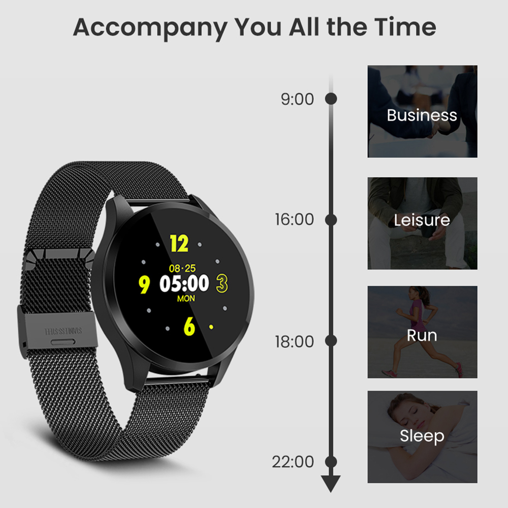 Image 5 - Virtoba C06 Smart Watch OLED Color Blood Oxygen Blood Pressure Watch Men Women Fashion Fitness Tracker Bracelet PK Q8 smartwatch-in Smart Watches from Consumer Electronics