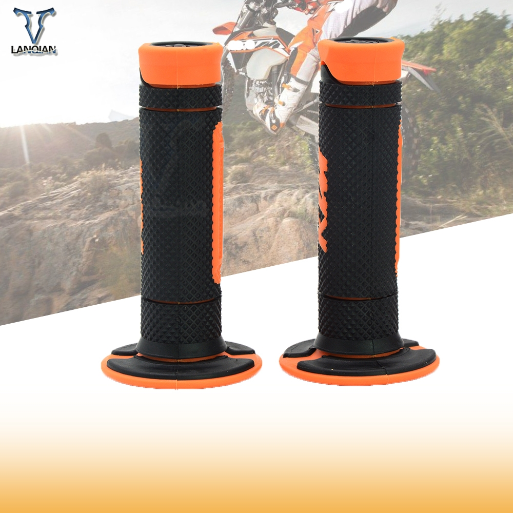 LANQIAN Handle Motorcycle Dirt PitBike Pro Motocross Handlebar Grips For KTM 530XC-W