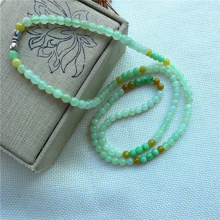 Natural Burmese stone necklace with round ribbon certificate/1