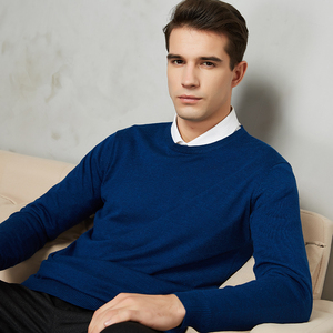 Image 3 - 10 Colors Mens Casual Knit Sweater 2020 Autumn Winter New Slim Fit Pullover Wool Cashmere Sweater Men Brand Clothes