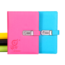цена New notebook paper 100 sheets Personal Diary with Lock code Business  Notepad Stationery Customized office school supplies gift онлайн в 2017 году