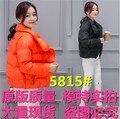 Plus size nova magro solto tomar breve parágrafo estudantes algodão-acolchoado pão jaqueta de algodão fino casacos outerwear orange rosa 5815