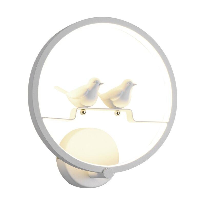 Стены птица настенные простой современный Гостиная светильники светодиодные теплые Спальня ночники творческий коридорах Лестницы лампы