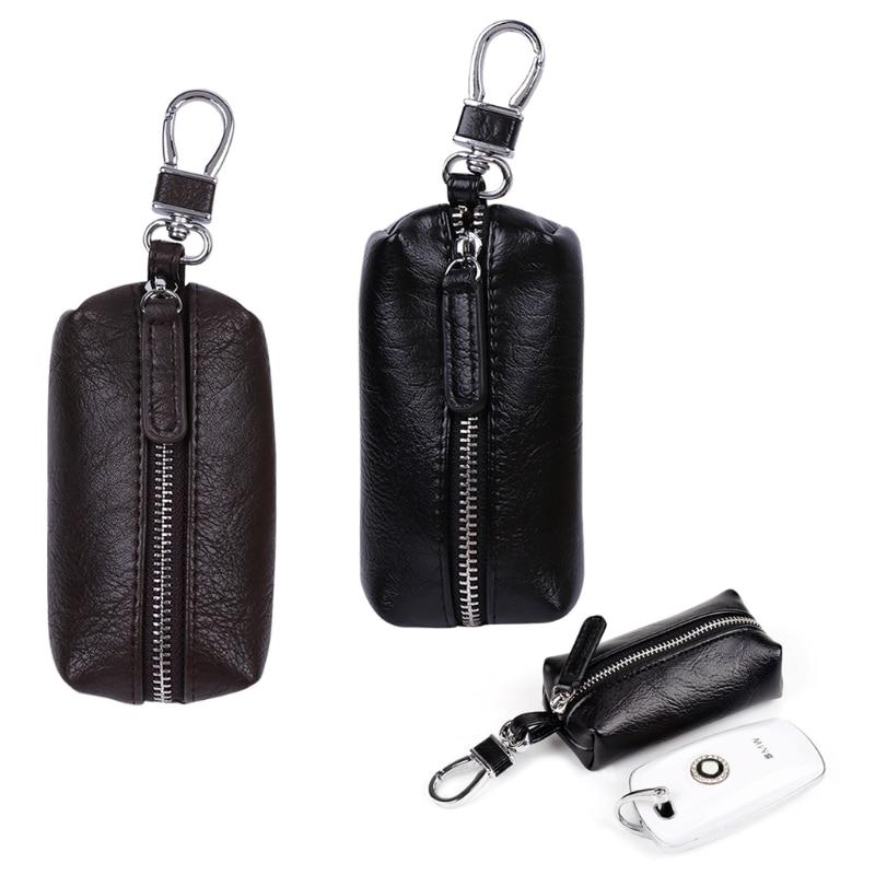 THINKTHENDDO Men Women Synthetic Leather Car Key Ring Holder Case KeyChain Purse Bag Coin Fashion New Design