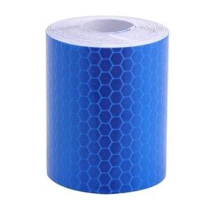 Image 2 - 5cm x 1m Sicherheit Mark Reflektierende Band Aufkleber Auto Styling Selbst Klebe Warnband Automobile Motorrad Reflektierende Streifen 6 farbe