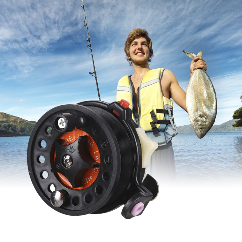 new Arrived Plastic Ice Fishing Reels Fly Fishing Tackle Round Wheel Fishing Accessories new
