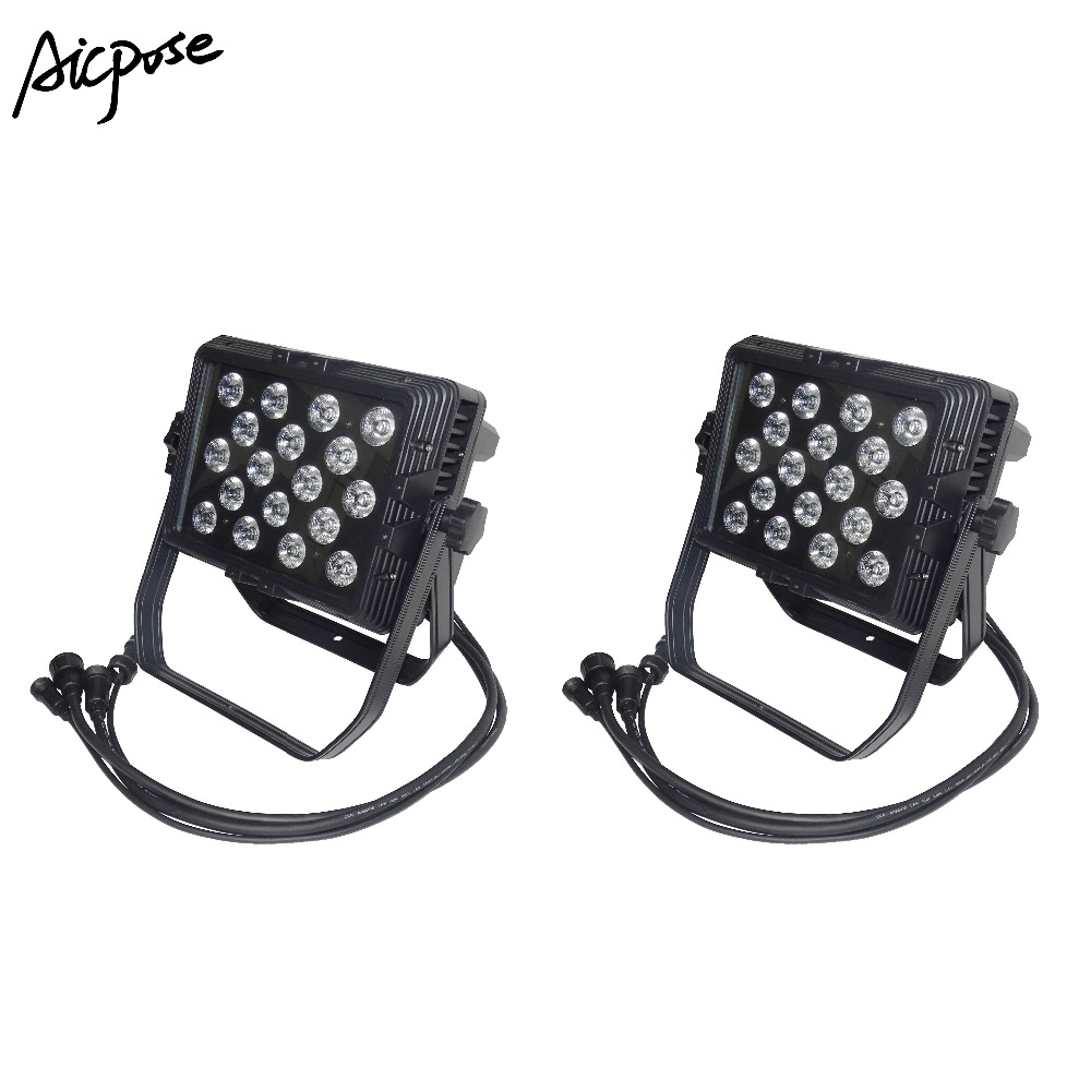Stage Lighting Effect Lights & Lighting Useful 2pcs/lots Outdoor Led Lights 18x12w Rgbw 4in1 Wall Washer Ip65 Waterproof 18*12w Led Stage Lighting Square Par Light