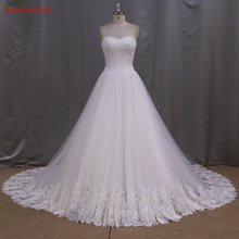 High Quality 2016 Elegant A-Line Sweetheart Off the Shoulder Lace Up Back Lace Organza Bridal Gown YIYI Wedding Dress WD0355
