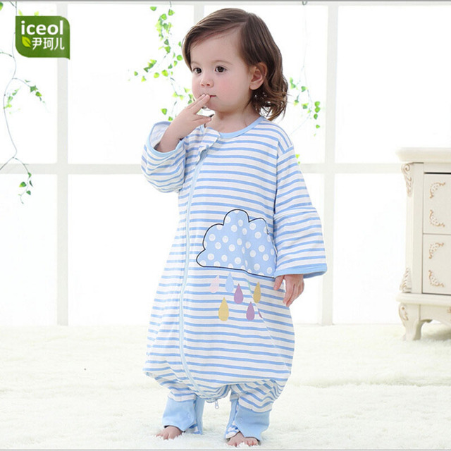 baby sleepsacks Combed Cotton Infant Baby Sleeping Bag Sleep Sack Grobag Swaddle Sleepwear Gown Quilt