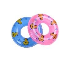 1 шт. плавательный круг спасательный пояс кольцо для куклы аксессуары для игрушек куклы, детские игрушки лучший подарок 2 цвета