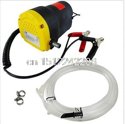 12V 5Amp Motor Oil Fuel Diesel Extractor Scavenge Suction Transfer Pump & Hoses oil leakage suction pipe siphon tube hose manual fuel transfer pump sucker fuel tank180cm auto vehicle necessary ad1002