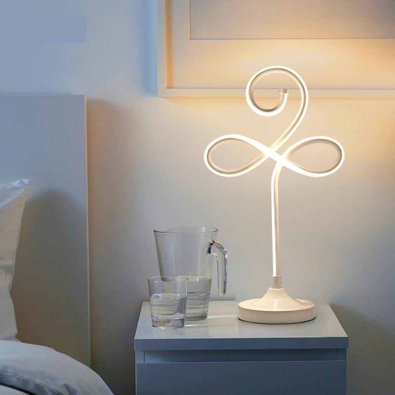 Modern LED Table Lamps For Living Room Home Led Desk Lamp Bedroom Study  Reading EU US