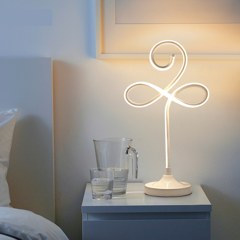 Modern LED Table Lamps For Living Room Home Led Desk Lamp Bedroom Study Reading EU US Plug Acrylic+Hardware Lampshade bdbqbl modern art led table lamp lustre for living room bedroom light ghost desk lamp acrylic lampshade home lighting abajour