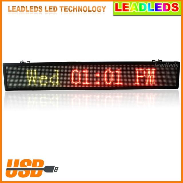 Tri Color LED Advertising Display Ultra Brightness Indoor Lighting - tri words