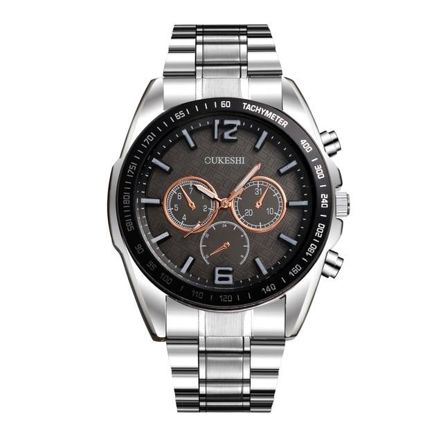 Watches Men Top Luxury Brand OUKRSHI Waterproof Date Clock Male Full Steel Casual Quartz Sport Wrist Watch Relogio Masculino