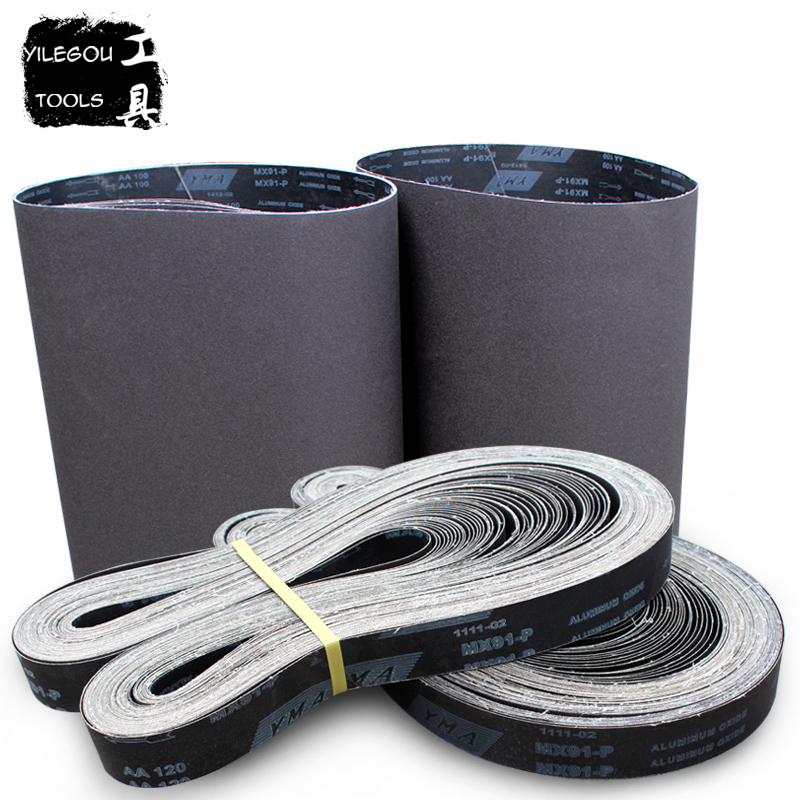 50 * 2100mm Sanding belt For Metal 2100*50mm Sanding Screen Aluminum Oxide Abrasive Belts With Grit 60 100 180 240 320 цена