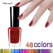 Lily angel 1 шт. 6 мл 48 цветов на выбор лак для ногтей Быстросохнущий жидкий лак для ногтей легкая чистка эмаль для ногтей