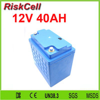 Free Shipping LiFePO4 Battery 12V 40Ah Lithium Ion Battery For Solar System EV Golf Trolley