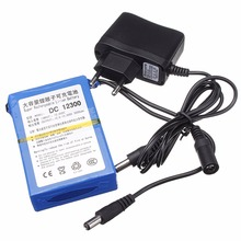 DC 12300 3000mAh Lithium Ion Rechargeable Battery AC Power Charger EU/US Plugs Rechargeable Battery For CCTV Camera