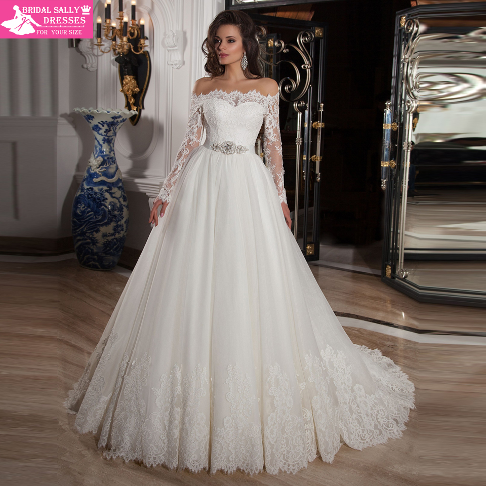 Aliexpress.com : Buy Vestido De Noiva 2015 Romantic Off Shoulder ...