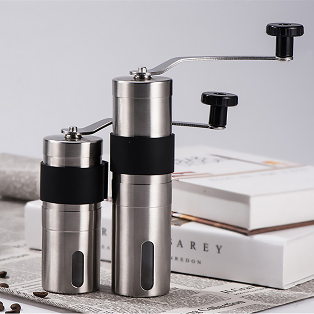 Manual Coffee Grinder 20/30g Washable Ceramic Core Stainless Steel Handmade Portable Coffee Bean Burr Grinders Mill Kitchen Tool