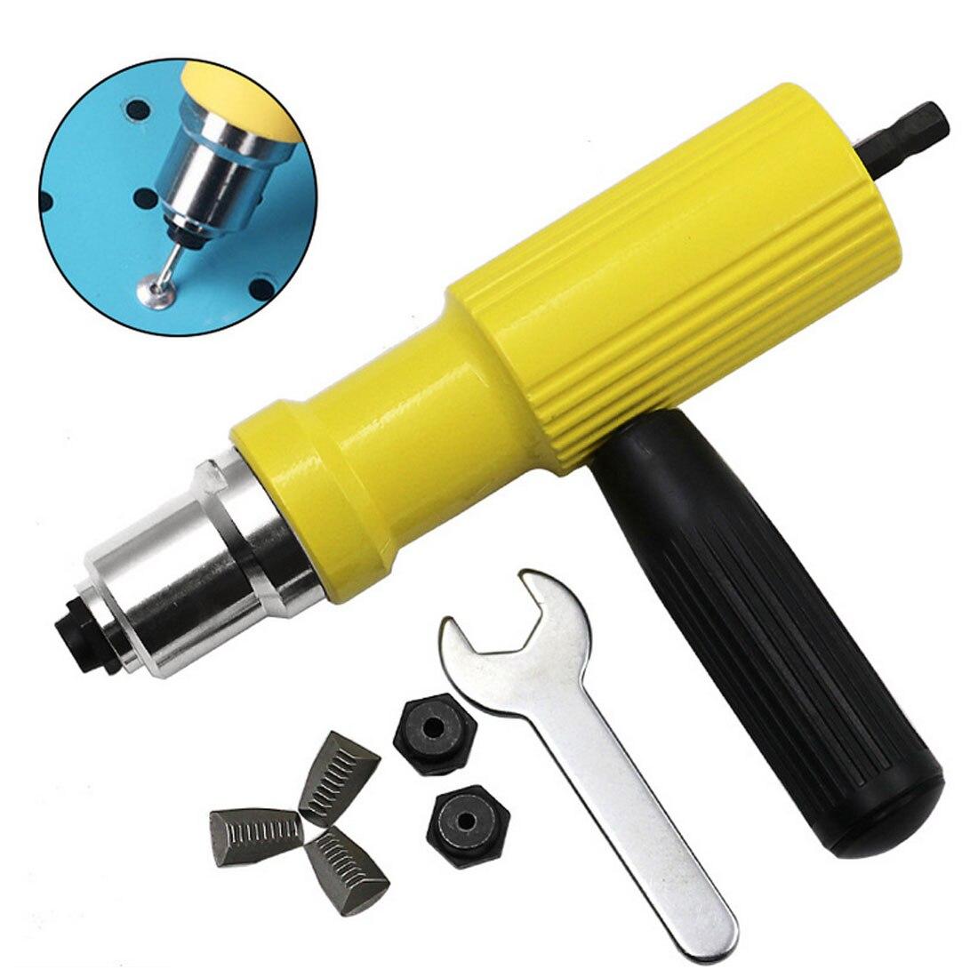 2.4mm-4.8mm Electric Rivet Nut Gun Riveting Tool Cordless Riveting Drill Adaptor Insert Nut Tool Riveting Drill Adapter2.4mm-4.8mm Electric Rivet Nut Gun Riveting Tool Cordless Riveting Drill Adaptor Insert Nut Tool Riveting Drill Adapter