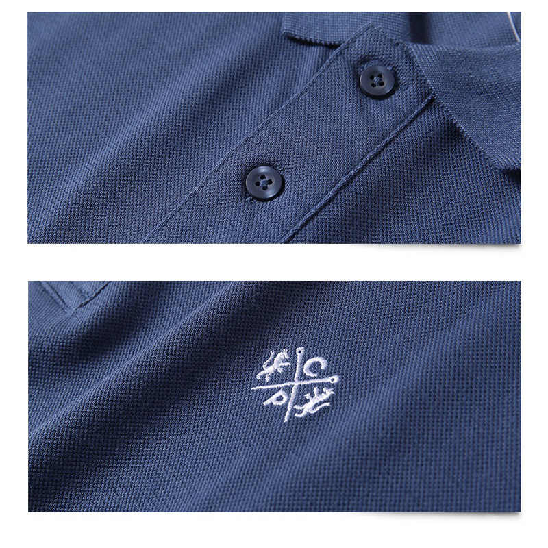 Polo Hombre Camisa de algodón puro hombres de negocios Casual Hombre Polo camisa de manga corta transpirable Polo 5XL 2018 verano