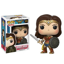Funko Pop Baru DC Comics Justice League Wonder Woman 172 # PVC Action Figure Mainan Koleksi untuk Anak-anak Natal hadiah(China)