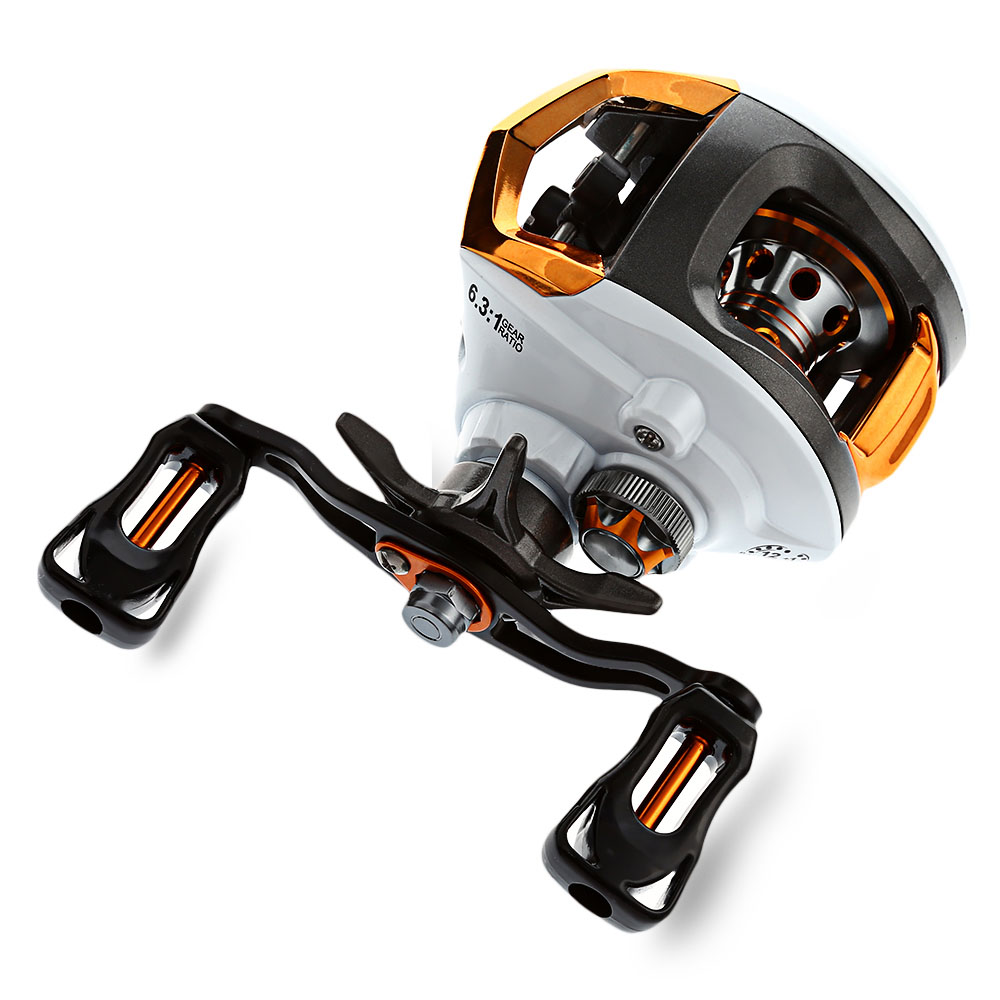 12+1 Ball Bearings Right/Left Hand Baitcasting Reel Fishing Fly High Speed Fishing Reel with Magnetic Brake System