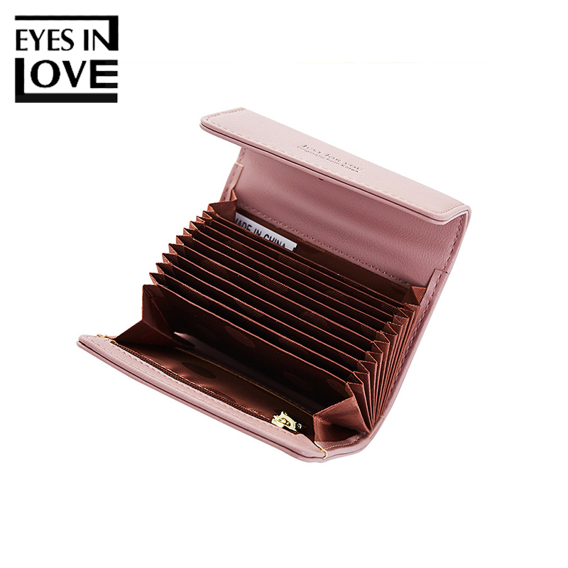 где купить Eyes In Love 2018 Fashion Women Small Leather Wallet Female Zipper Credit Card Pocket For Girls Photo Coin Purse Short Wallets по лучшей цене