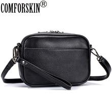 COMFORSKIN Bolsas Femininas 2020 European And American Premium Cowhide Leather Womens Flap Bag Feminine Designer Messenger Bag