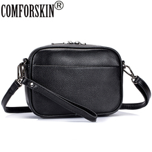 Comforskin Bolsas Femininas 2020 Europese En Amerikaanse Premium Rundleer Vrouwen Flap Bag Vrouwelijke Designer Messenger Bag
