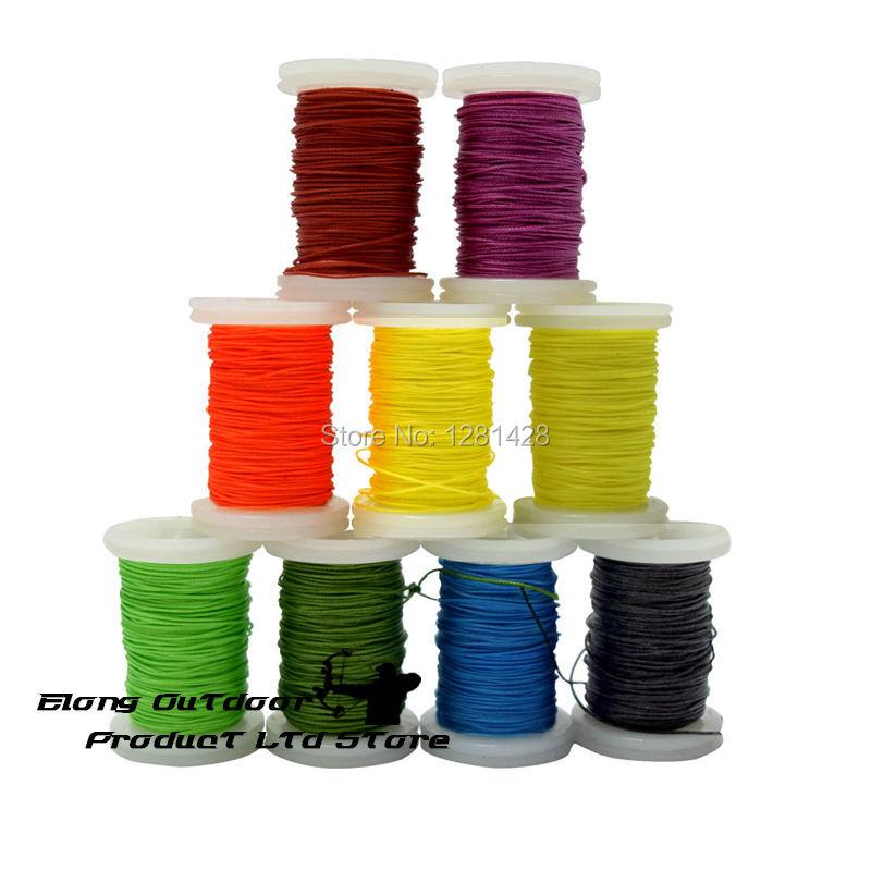 """Nieuwe 30 Meter / roll 0.021 """"Dikte Boog String Dienen Draad voor Verschillende Boog, diverse Kleur Serveert Draad + Gratis Verzending"""