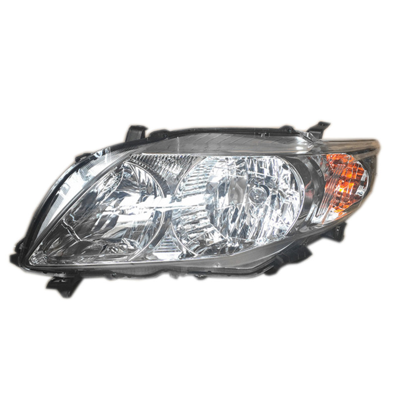Ownsun Original Replacement Chorme Housing Halogen Headlights For Toyota Corolla 2007-2009