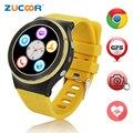 3g android smart watch phone com câmera de 5mp gps/wifi/cartão sim quad core smartwatch bluetooth freqüência cardíaca de fitness rastreador pk lf07 lf09