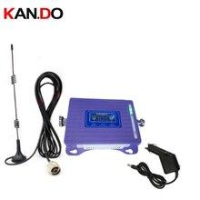 สำหรับ 2G 4G repeater พร้อมเสาอากาศจอแสดงผล LCD dual GSM 4G booster repeater DCS 900 1800 mhz รถ 4g LTE booster