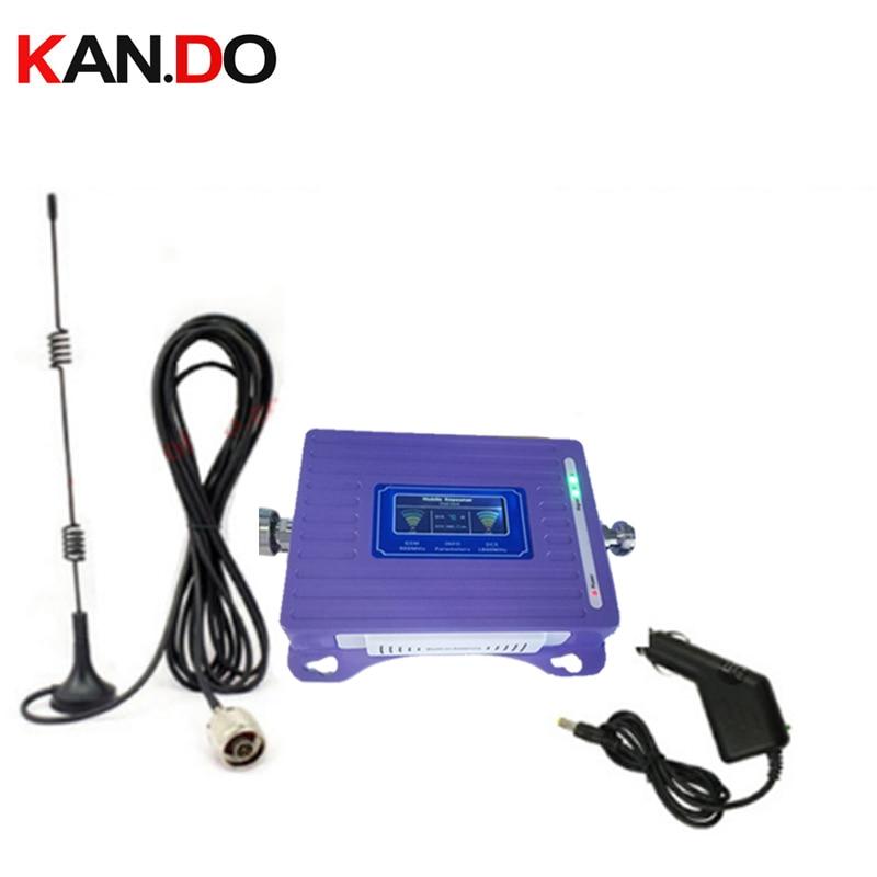Pour voiture 2G 4G répéteur avec antenne de câble affichage LCD double bandes GSM 4G booster répéteur DCS 900 1800 mhz voiture 4g LTE booster