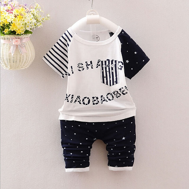 2 pcs/set Super 2018 summer infant sets baby clothing sets Cotton lovely short sleeve boy & girl clothes T-shirt+Shorts